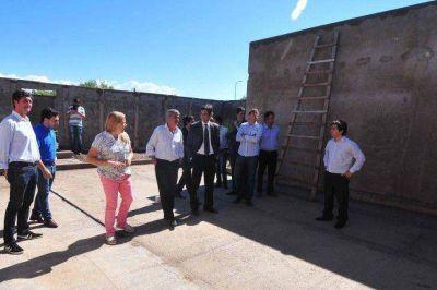El vicegobernador visitó la obra de la Comisaría Nº17 en El Trapiche