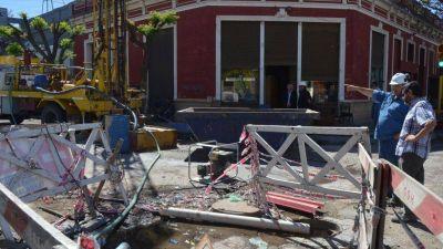 Por un cable de electricidad, la reparación en Brandsen y Soler llevará más tiempo