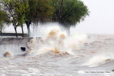 Alerta por la crecida del Río de la Plata para esta tarde en la costa de Buenos Aires