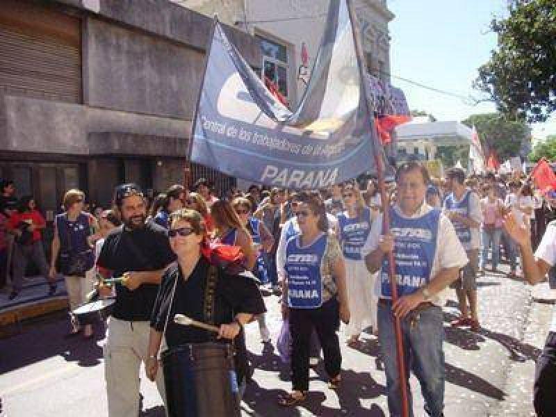La CTA autónoma de Paraná inicia este lunes retención de servicios en organismos del Estado provincial