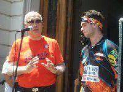 Jorge Lacunza lleg� a Saladillo luego de su paso por el D�kar