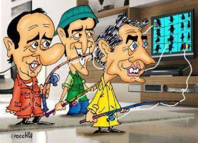 Sobredosis de TV: los candidatos y sus carnadas VIP a la hora de la pesca electoral