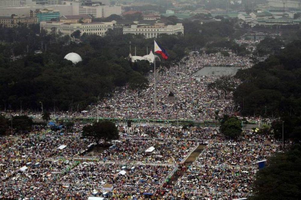 Manila; nunca había habido tantos fieles con un Papa