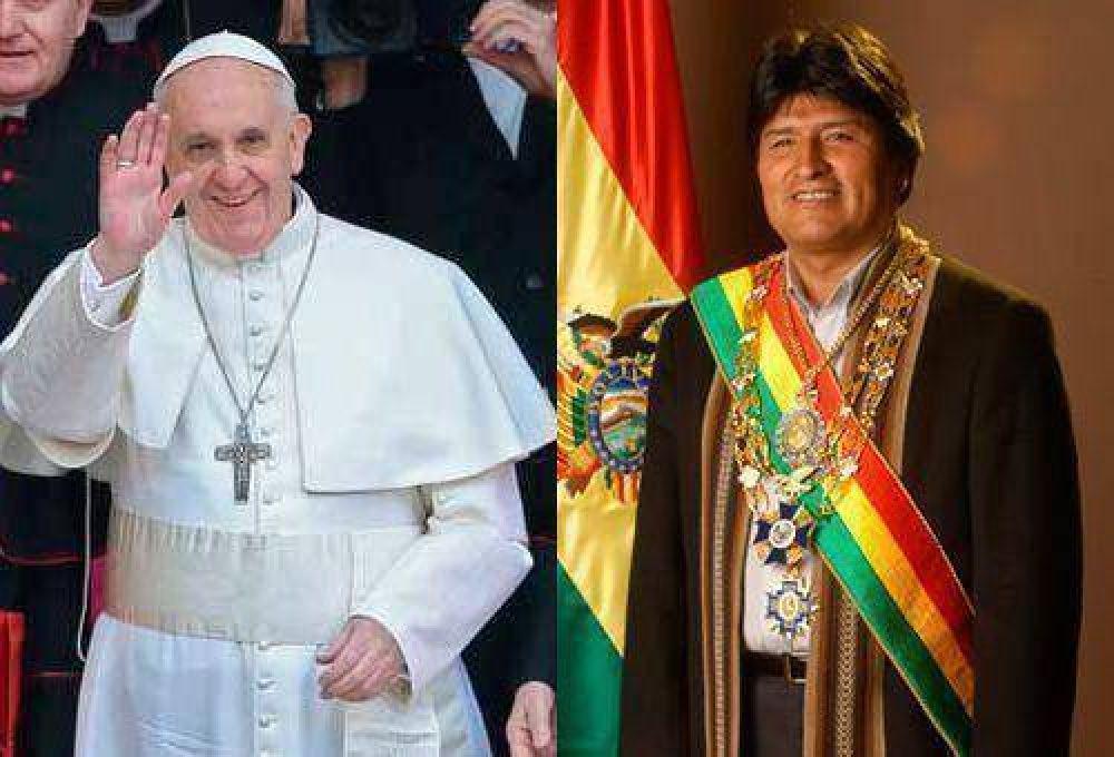 Evo afirma que Francisco visitará Bolivia, Paraguay y Ecuador en julio