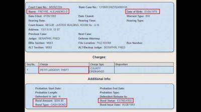 Alex Freyre fue denunciado por robo en los Estados Unidos