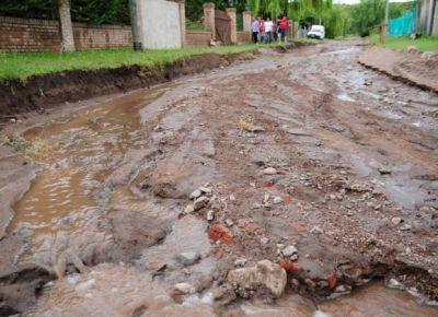 Un barrio de Juana Koslay quedó aislado tras la lluvia