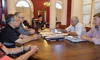 El intendente Fabián Ríos recibió a su par de la ciudad paraguaya de Luque, César Meza Bría