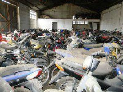 3.000 motos secuestradas podrían ser compactadas