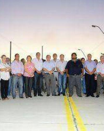 Habilitaron obras viales y renovado puente sobre estratégico acceso a la jurisdicción 5