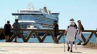 El Golden Princess batió el récord de pasajeros arribados en un solo crucero