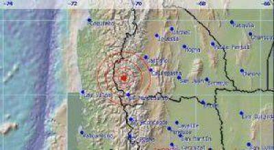 Un sismo de 4.4° movió el piso a los sanjuaninos