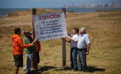 Pulti retiró el cartel de prohibición de baño en la playa Las Delicias