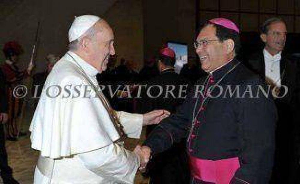 Obispo de Quilmes con el Papa Francisco