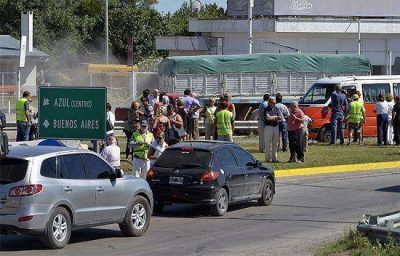 Usuarios viales se manifestaron por el estado de las rutas