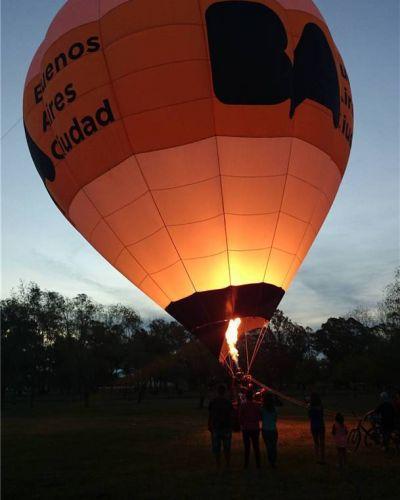 El globo de la Ciudad de Buenos Aires pasó por Bolívar