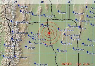 Un temblor despertó a Mendoza