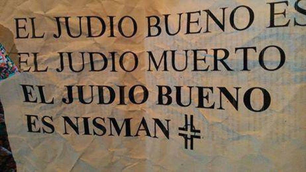 La DAIA repudia la aparición de carteles antisemitas en Villa Crespo