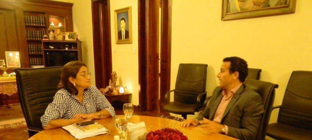 La Gobernadora recibió a Guillermo Chaves