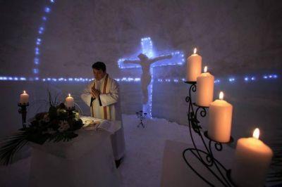 Una templo de hielo para rezar por la unidad de los cristianos
