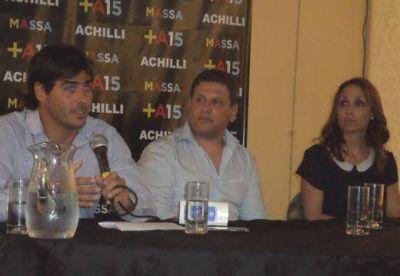 Achilli recibi� a Florencia Arietto en una charla sobre Seguridad
