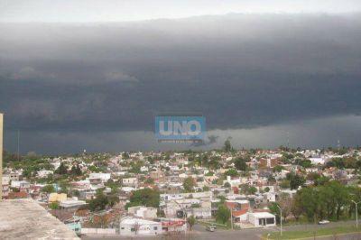 Rige un alerta meteorológico para el sur y el centro de Entre Ríos