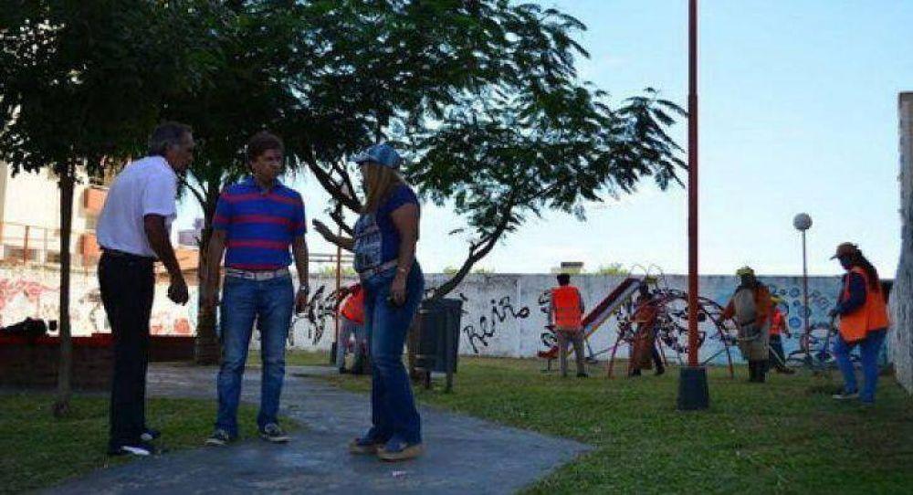 La comuna realizó trabajos de limpieza en villa Centenario