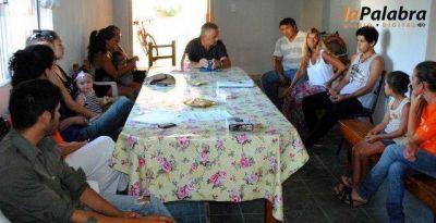 Curetti mantuvo un c�lido encuentro con los j�venes del programa Envi�n