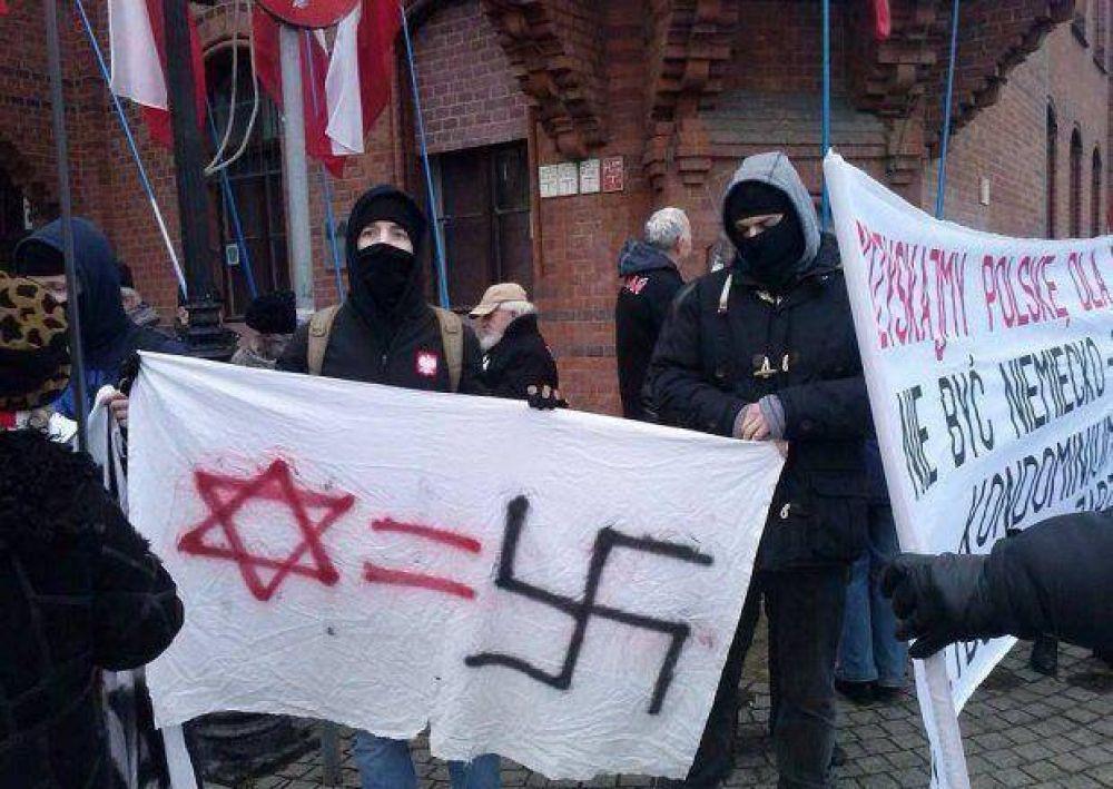 Antisemitismo. Cuatro polacos fueron acusados de