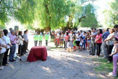 Comenzó la construcción de viviendas para siete familias de Nogolí