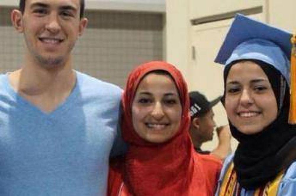 Asesinaron a tres jóvenes musulmanes en EE.UU