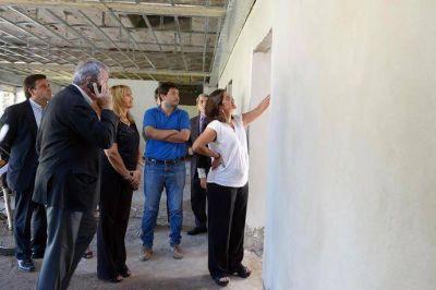 Lucía visitó la obra del nuevo Banco de Sangre