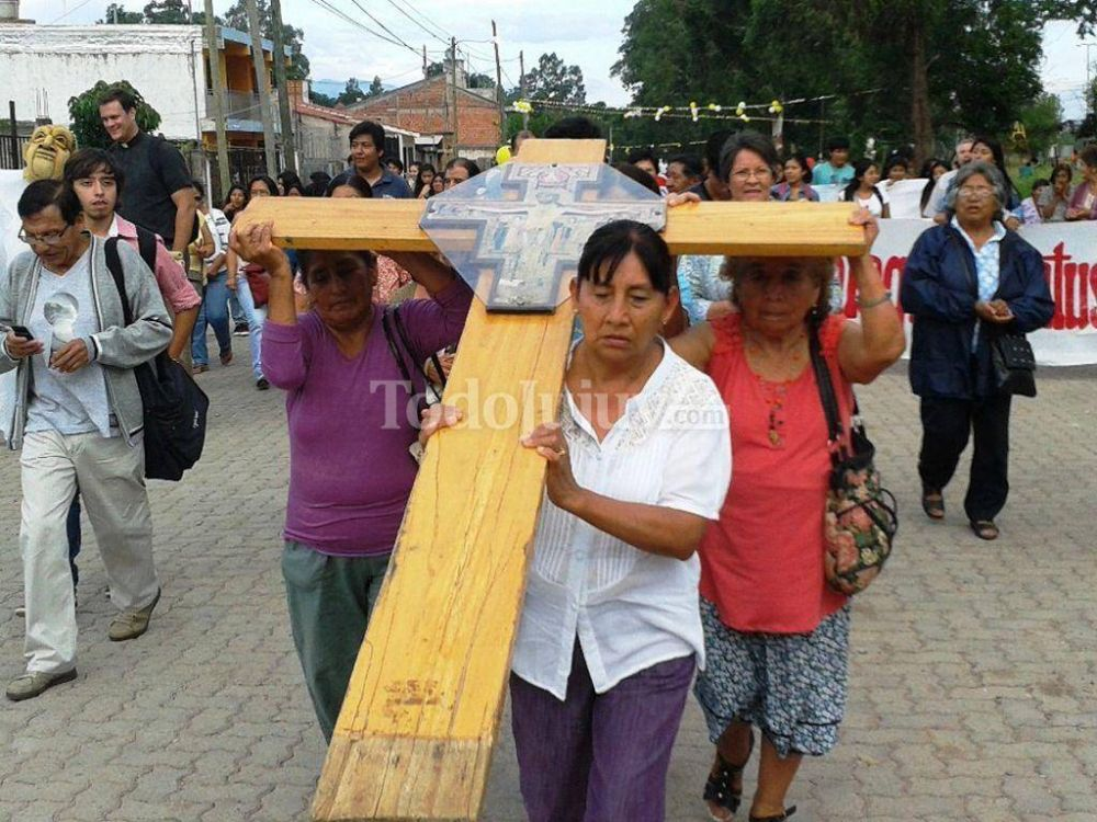 La cruz de San Damián llegó al Santuario de Río Blanco