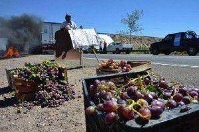 Corte y movilización de productores vitivinícolas