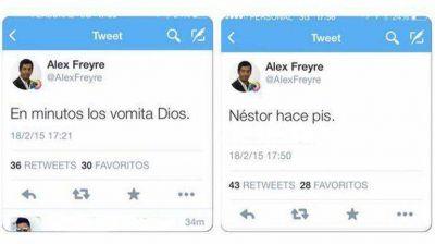 Los polémicos tuits de Alex Freyre en medio de la marcha del #18F