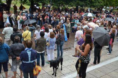 M�s de 250 personas participaron del 18F en Luj�n