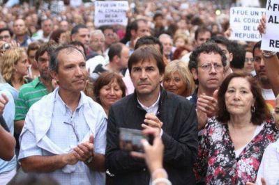 Ellos, los políticos, dijeron presente en la multitudinaria marcha