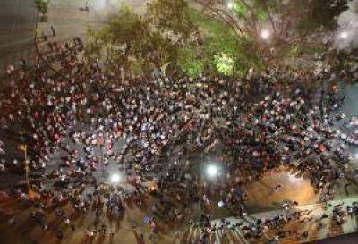 El reclamo en San Juan fue con el apoyo de la Iglesia