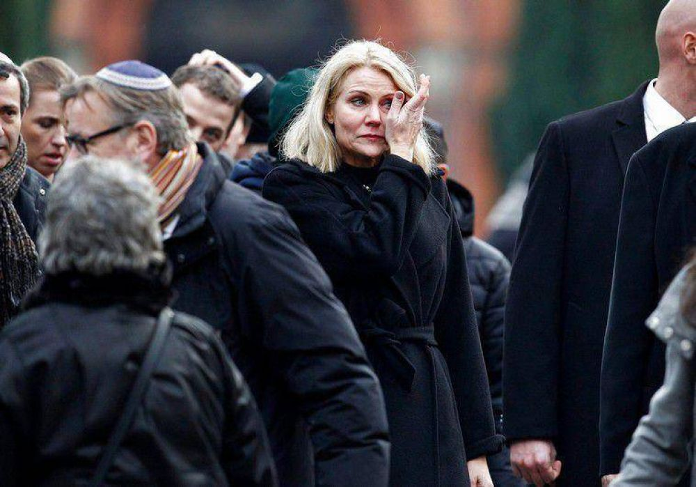 La primera ministra danesa lloró en el funeral del judío asesinado en Copenhague
