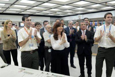 Urribarri acompañó a Cristina en la puesta en funciones Atucha II