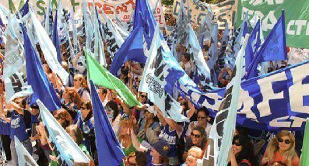 Marcha de estatales, docentes y médicos