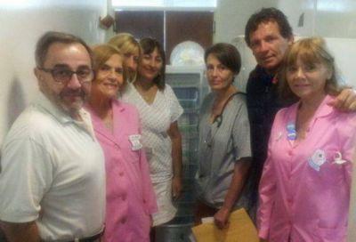Donación del senador Juan Curuchet al Hospital Materno Infantil