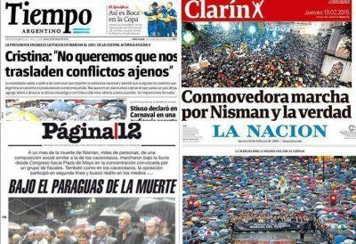 Cómo analizaron los diarios la movilización del #18F