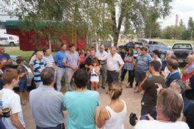 Inauguraron la red de gas natural para el barrio San Joaquín