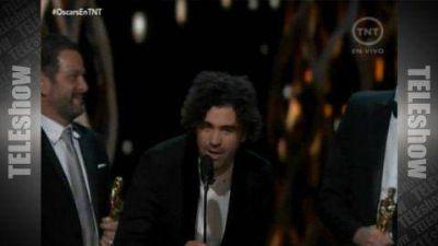 Los argentinos Armando Bó y Nicolás Giacobone se quedaron con el Oscar a Mejor Guión Original
