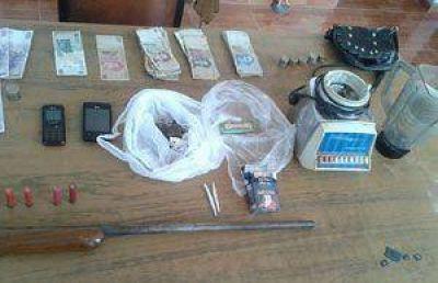 Atrapan a presunto narco en un allanamiento en Pocito