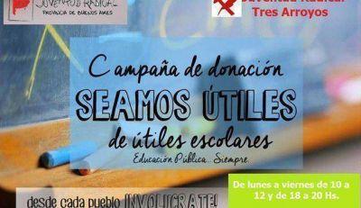 """""""Seamos útiles"""", campaña de la Juventud Radical"""