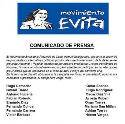 Salta: Movimiento Evita se bajó de las elecciones provinciales