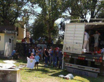 Los 28 mil kilos de ayuda marplatense llegó a Córdoba