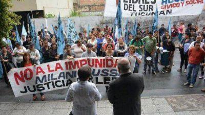 Libres del Sur marchó exigiendo procesamiento de Milani