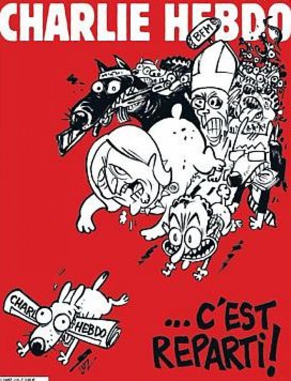 Charlie Hebdo vuelve a salir y con el Papa en la tapa